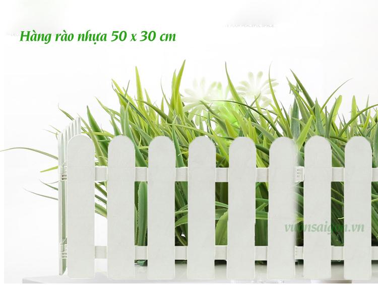 Hàng rào nhựa đầu tròn cao 30cm x 50cm