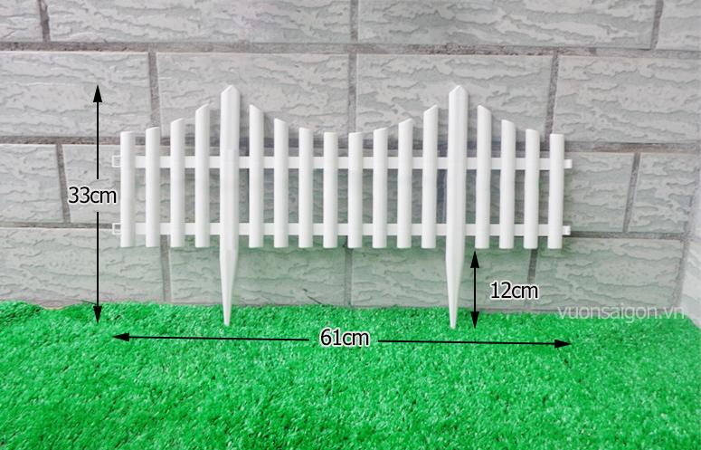 Hàng rào nhựa hình võng cao 33cm x 61cm
