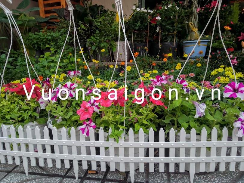 Hàng rào nhựa trang trí sân vườn