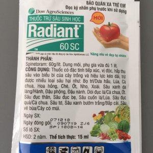 Thuốc trừ sâu sinh học Radiant 60 SC