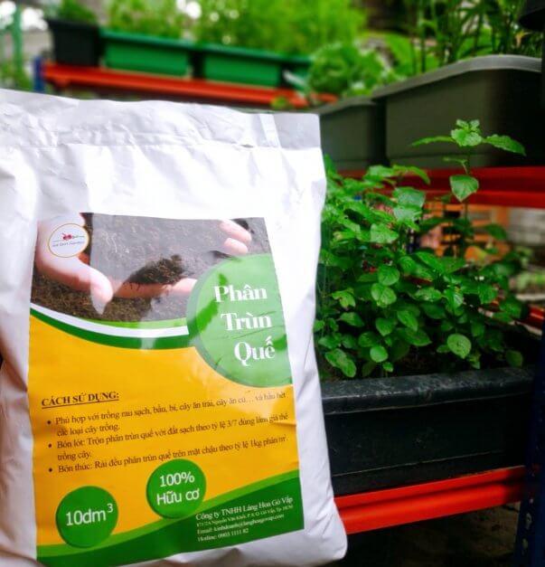 Phân trùn quế Vườn Sài Gòn 5kg