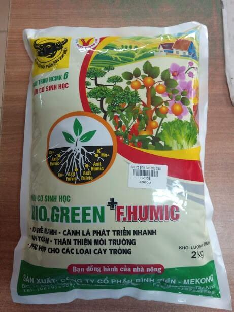 Phân bón sinh học Bio Green + F.Humic